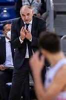 11th April 2021; Palau Blaugrana, Barcelona, Catalonia, Spain; Liga ACB Basketball, Barcelona versus Real Madrid; Pablo Laso Real Madrid Coach