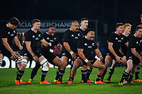 The All Blacks perform the haka before the Steinlager Series rugby match between the New Zealand All Blacks and Tonga at Mt Smart Stadium in Auckland, New Zealand on Saturday, 3 July 2021. Photo: Dave Lintott / lintottphoto.co.nz