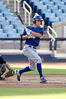Joc Pederson - AZL Dodgers. Pederson was playing his first professional game against the Brewers at Maryvale Stadium, Phoenix, AZ - 08/21/2010.Photo by:  Bill Mitchell/Four Seam Images..
