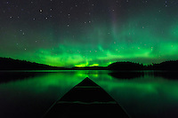Canoeing under a star-filled sky splashed with the aurora is one of the most enjoyable and memorable experiences of a wilderness canoe trip. ~ Day 191 of Inspired by Wilderness: A Four Season Solo Canoe Journey.
