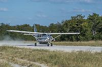 Africa, Botswana, Okavango Delta, Khwai private reserve. Airstrip.