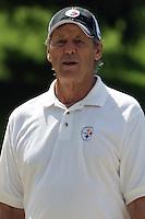 Dick LeBeau, Pittsburgh Steelers Defensive Coordinator.Training camp, August 11, 2011 at Latrobe, Pennsylvania.