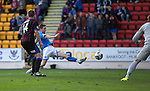 St Johnstone v Inverness Caledonian Thistle...05.10.13      SPFL<br /> Steven MacLean scores the fourth goal<br /> Picture by Graeme Hart.<br /> Copyright Perthshire Picture Agency<br /> Tel: 01738 623350  Mobile: 07990 594431
