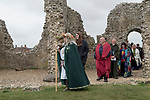 Dorset Druid Grove, Autumn Equinox at Knowlton prehistoric henge monument and 12th and later 14th century ruined church. 2021.