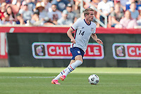 SANDY, UT - JUNE 10: Jackson Yueill #14 of the United States moves towards the box during a game between Costa Rica and USMNT at Rio Tinto Stadium on June 10, 2021 in Sandy, Utah.