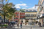 Austria, East-Tyrol, Lienz: Main Square (Hauptplatz) at centre of the Old Town | Oesterreich, Osttirol, Lienz: der Hauptplatz im Zentrum der Altstadt