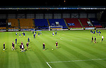 St Johnstone v Dundee United…10.11.20   McDiarmid Park      BetFred Cup<br />The players warm-up before kick off<br />Picture by Graeme Hart.<br />Copyright Perthshire Picture Agency<br />Tel: 01738 623350  Mobile: 07990 594431