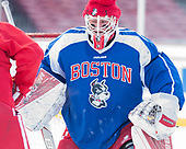 Connor Lacouvee (BU - 30) - The Boston University Terriers practiced on the rink at Fenway Park on Friday, January 6, 2017.The Boston University Terriers practiced on the rink at Fenway Park on Friday, January 6, 2017.