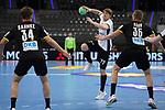 Alfred Timmo (EST) am Ball bei der Euro-Qualifikation im Handball, Deutschland - Estland.<br /> <br /> Foto © PIX-Sportfotos *** Foto ist honorarpflichtig! *** Auf Anfrage in hoeherer Qualitaet/Aufloesung. Belegexemplar erbeten. Veroeffentlichung ausschliesslich fuer journalistisch-publizistische Zwecke. For editorial use only.