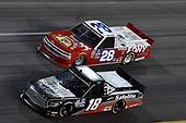 #18: Christian Eckes, Kyle Busch Motorsports, Toyota Tundra Safelite AutoGlass, #28: Bryan Dauzat, FDNY Racing, Chevrolet Silverado FDNY -- AMERICAN GENOMICS
