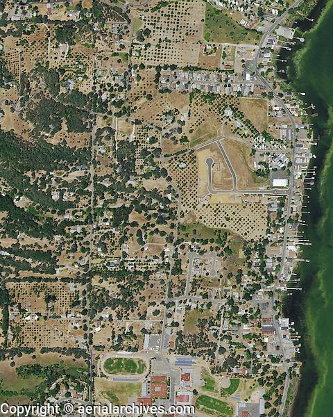 aerial photograph Lakeport, Lake County, California, 2014