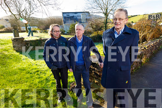 Annascaul historical society have just set up a Go Fund Me page to raise funds for the proposed Ballinclare Ambush Centenary Memorial in the village. <br /> L to r: Lawrence Jones, Michael Kennedy and John Harnett