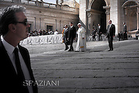 Personal bodyguard the Pope Francis during his weekly general audience in St. Peter square at the Vatican, Wednesday.October 1, 2014