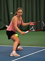 Rotterdam, The Netherlands, 15.03.2014. NOJK 14 and 18 years ,National Indoor Juniors Championships of 2014, Inger van Dijkman (NED)<br /> Photo:Tennisimages/Henk Koster
