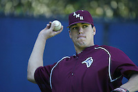 Vincent Cordova of the Loyola Marymount Lions throws before a game at Page Stadium on March 19, 2003 in Los Angeles, California. (Larry Goren/Four Seam Images)
