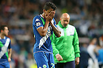 WfL Wolfsburg's Luiz Gustavo dejected after Champions League 2015/2016 Quarter-finals 2nd leg match. April 12,2016. (ALTERPHOTOS/Acero)