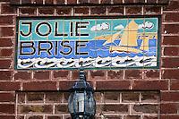 EuEurope/France/Picardie/80/Somme/Baie de Somme/ Le Crotoy: Détail d'une villa: Jolie Brise