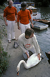 Swan Upping on the River Thames London  and  Berkshire 1980s UK