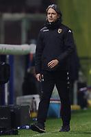 Filippo Inzaghi coach of Benevento Calcio dejection during the Serie A football match between Benevento Calcio and AC Milan at stadio Ciro Vigorito in Benevento (Italy), January 03rd, 2021. <br /> Photo Cesare Purini / Insidefoto
