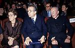 GIULIO E LIVIA ANDREOTTI        SERATA DON GNOCCHI TEATRO ELISEO ROMA 1991