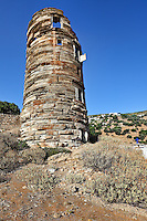 The tower of Agios Petros in Andros, Greece