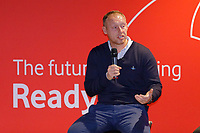 Pictured: Steve Cooper. Thursday 17 October 2019<br /> Re: Swansea City AFC, City Business Network event at the Liberty Stadium, Wales, UK.
