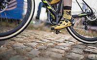 Flemish lion socks up the Koppenberg cobbles<br /> <br /> 25th Koppenbergcross 2016