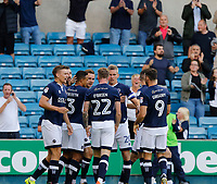 GOAL - Millwall's Jed Wallace scores early during the Sky Bet Championship match between Millwall and Ipswich Town at The Den, London, England on 15 August 2017. Photo by Carlton Myrie.