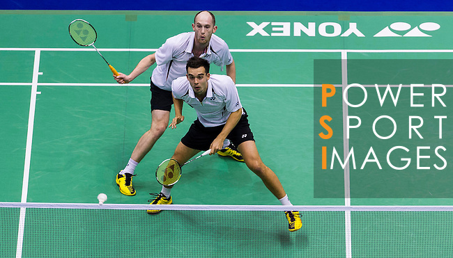 Players in action during the Yonex Sunrise Hong Kong Open Badminton on November 23, 2013 at the Hung Hom Coliseum in Hong Kong, China. Photo by Victor Fraile / The Power of Sport Images