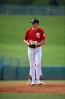 Maddux Bruns (16) of Ums-Wright Preparatory School in Saraland, AL during the Perfect Game National Showcase at Hoover Metropolitan Stadium on June 20, 2020 in Hoover, Alabama. (Mike Janes/Four Seam Images)