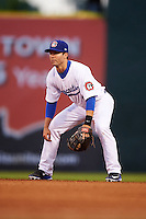 Chattanooga Lookouts second baseman Levi Michael (9) during a game against the Jacksonville Suns on April 30, 2015 at AT&T Field in Chattanooga, Tennessee.  Jacksonville defeated Chattanooga 6-4.  (Mike Janes/Four Seam Images)