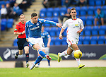 St Johnstone v Inverness Caley Thistle...08.08.15...SPFL..McDiarmid Park, Perth.<br /> Michael O'Halloran's shot is saved by Owain Fon Williams<br /> Picture by Graeme Hart.<br /> Copyright Perthshire Picture Agency<br /> Tel: 01738 623350  Mobile: 07990 594431