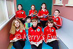 The students of Derryquay NS in their reading room