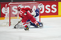 22nd May 2021, Riga Olympic Sports Centre Latvia; 2021 IIHF Ice hockey, Eishockey World Championship, Great Britain versus Russia; Sergei Tolchinsky scores for 4-0 for Russia