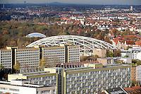 Stadtansichten 2009 - Blick vom Wintergartenhochhaus in Richtung Gohlis / Zool Leipzig - Gondwanaland - Luftaufnahme. Foto: Norman Rembarz..Norman Rembarz , ( ASV-Autorennummer 41043728 ), Holbeinstr. 14, 04229 Leipzig, Tel.: 01794887569, Hypovereinsbank: BLZ: 86020086, KN: 357889472, St.Nr.: 231/261/06432 - Jegliche kommerzielle Nutzung ist honorar- und mehrwertsteuerpflichtig! Persönlichkeitsrechte sind zu wahren. Es wird keine Haftung übernommen bei Verletzung von Rechten Dritter. Autoren-Nennung gem. §13 UrhGes. wird verlangt. Weitergabe an Dritte nur nach  vorheriger Absprache..