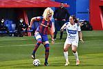 Liga IBERDROLA. Game 16.<br /> FC Barcelona vs UDG Tenerife Egatesa: 6-1.<br /> Kheira Hamraoui vs Ana Maria Gonzalez.