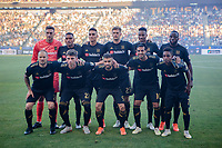 CARSON, CA - JULY 19: Los Angeles Football Club starting eleven during a game between Los Angeles FC and Los Angeles Galaxy at Dignity Health Sports Complex on July 19, 2019 in Carson, California.