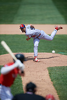 Reading Fightin Phils relief pitcher Austin Davis (55) delivers a pitch during a game against the Erie SeaWolves on May 18, 2017 at UPMC Park in Erie, Pennsylvania.  Reading defeated Erie 8-3.  (Mike Janes/Four Seam Images)