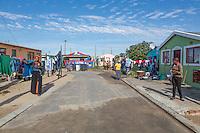 South Africa, Cape Town.  Street Scene in Wallacedene Township,  Kraaifontein.