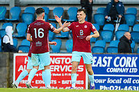 Darren Murphy and Charlie Lyons (right) of Cobh Ramblers celebrate at full time.<br /> <br /> Cobh Ramblers v Cork City, SSE Airtricity League Division 1, 28/5/21, St. Colman's Park, Cobh.<br /> <br /> Copyright Steve Alfred 2021.