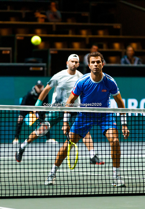 Rotterdam, The Netherlands, 9 Februari 2020, ABNAMRO World Tennis Tournament, Ahoy, Doubles: Jean-Julien Rojer (NED) and Horia Tecau (ROU).<br /> Photo: www.tennisimages.com