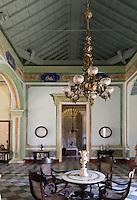 Cuba, Halle des historischen Museums (ehemaliges Stadthaus des Zuckerbaron Vantero) in Trinidad, Provinz Sancti Spiritus, Unesco-Weltkulturerbe