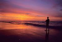 Person watching an ocean sunrise, Avalon, New Jersey