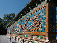 Neundrachenmauer JiuLongBin im BeiHai Park, Peking, China, Asien<br /> Nine-dragon-wall JiuLongBin in Beihai Park, Beijing, China, Asia