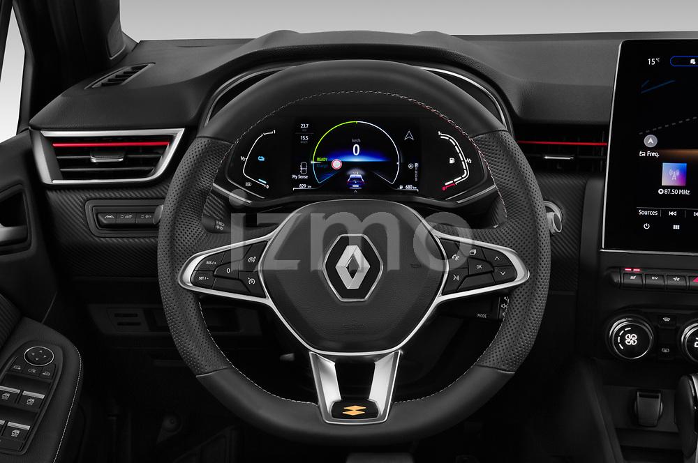 Car pictures of steering wheel view of a 2020 Renault Clio-e-Tech RS-Line 5 Door Hatchback Steering Wheel