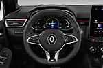 Car pictures of steering wheel view of a 2020 Renault Clio-e-Tech RS-Line 5 Door Hatchback Steering Wheel