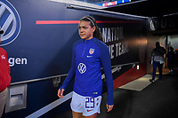 JACKSONVILLE, FL - NOVEMBER 10: Alana Cook #28 of the United States walks out on to the field to warm up during a game between Costa Rica and USWNT at TIAA Bank Field on November 10, 2019 in Jacksonville, Florida.