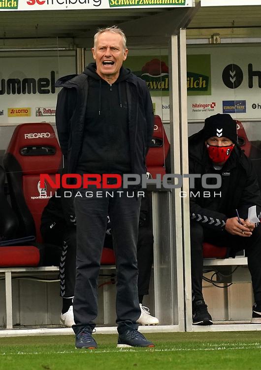17.10.2020, Schwarzwald Stadion, Freiburg, GER, 1.FBL, SC Freiburg vs SV Werder Bremen<br /><br />im Bild / picture shows<br />Trainer Christian Streich (Freiburg)<br /><br />Foto © nordphoto / Bratic<br /><br />DFL REGULATIONS PROHIBIT ANY USE OF PHOTOGRAPHS AS IMAGE SEQUENCES AND/OR QUASI-VIDEO.