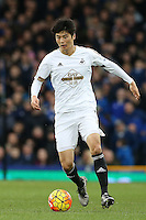 Ki Sung-Yueng during the Barclays Premier League match between Everton and Swansea City played at Goodison Park, Liverpool