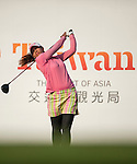 TAOYUAN, TAIWAN - OCTOBER 26:  Pornanong Phatlum of Thailand tees off on the 17th hole during the day two of the Sunrise LPGA Taiwan Championship at the Sunrise Golf Course on October 26, 2012 in Taoyuan, Taiwan. Photo by Victor Fraile / The Power of Sport Images